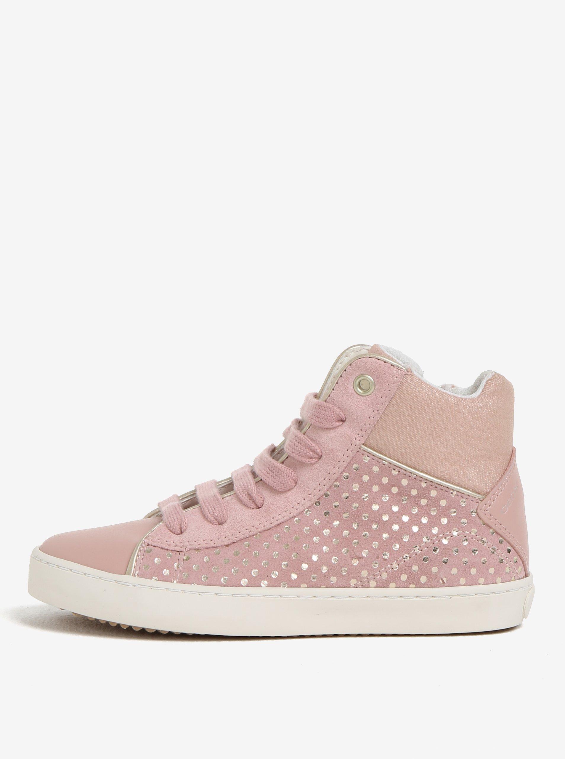 e4006af142 Ružové dievčenské semišové členkové tenisky Geox Kilwi