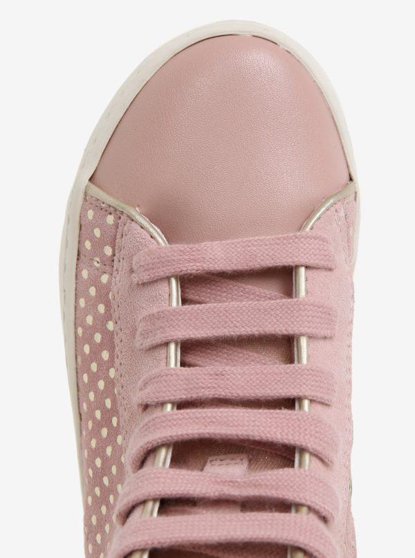 bcf948e953 Ružové dievčenské semišové členkové tenisky Geox Kilwi