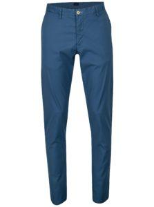 Modré pánske slim chino nohavice GANT