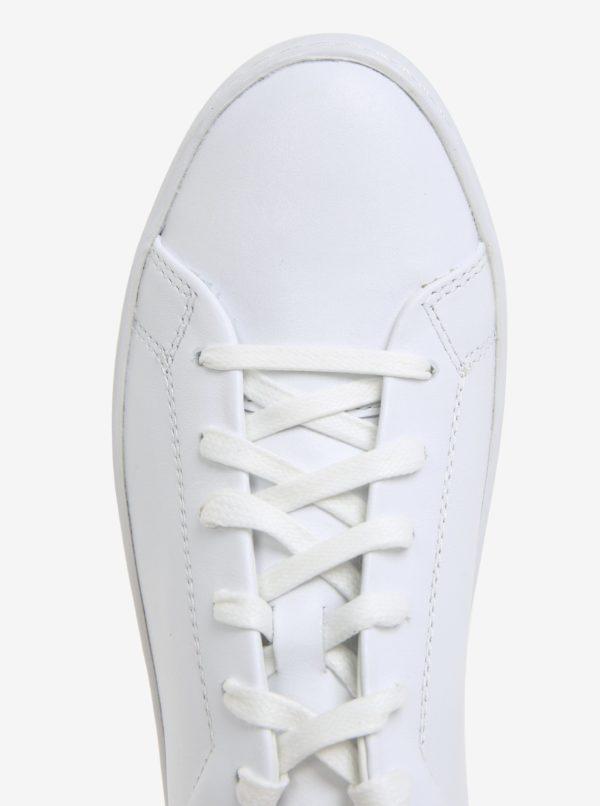Biele dámske kožené tenisky na platforme Vagabond Zoe  e7c3895e6a5