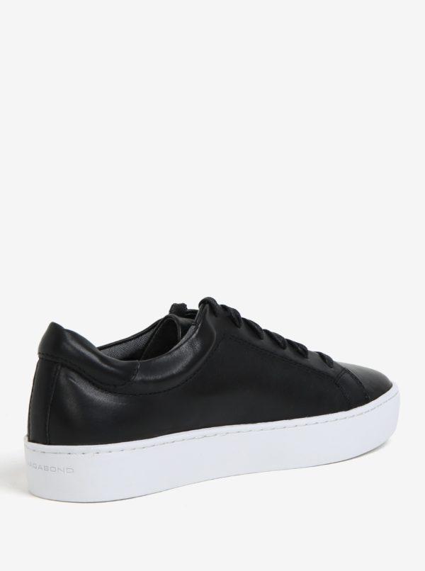 cc3e2265e5 Čierne dámske kožené tenisky na platforme Vagabond Zoe