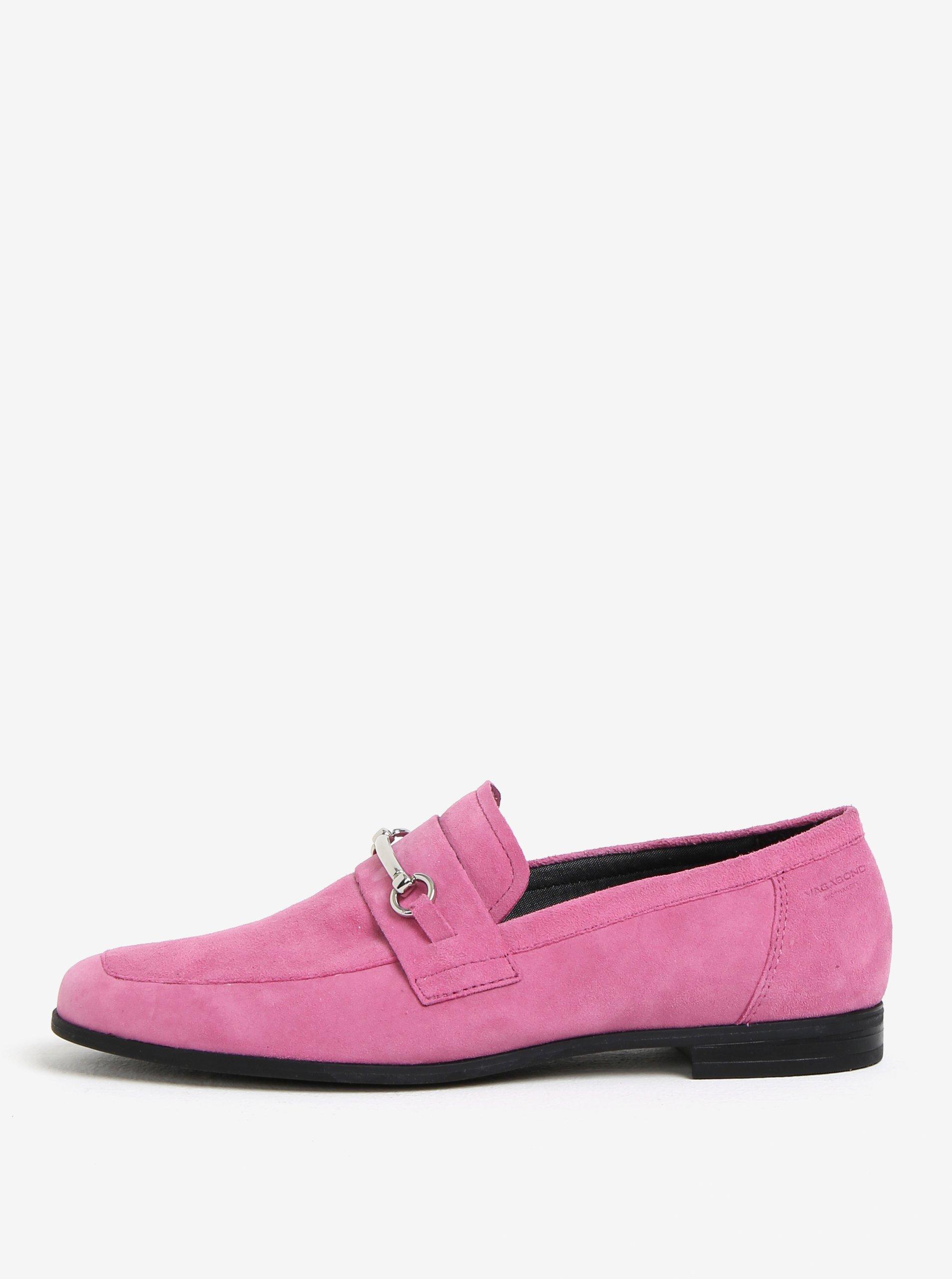 Ružové dámske semišové mokasíny Vagabond Marilyn  cafa17c85cc