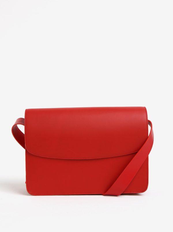 Červená kožená crossbody kabelka Vagabond Valencia
