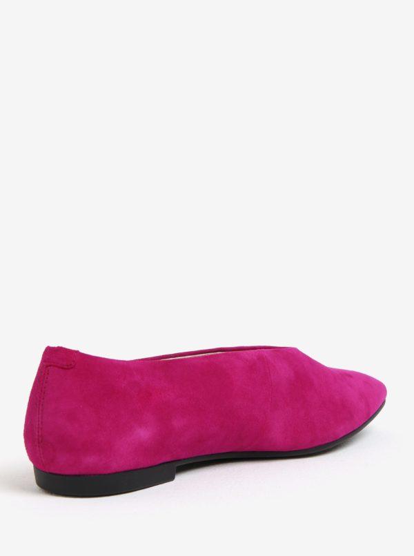Ružové semišové baleríny Vagabond Katlin
