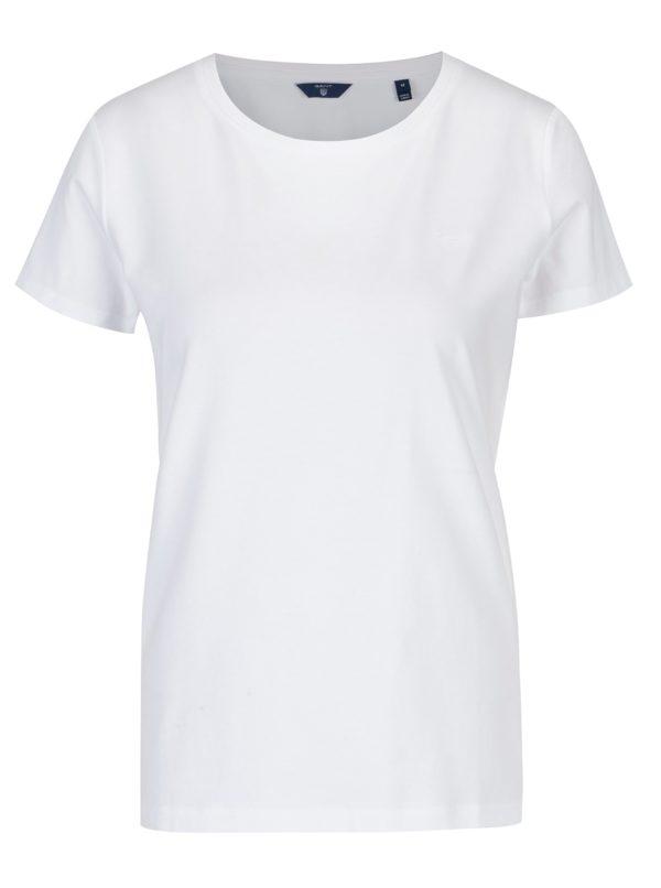 Biele dámske tričko s okrúhlym výstrihom GANT