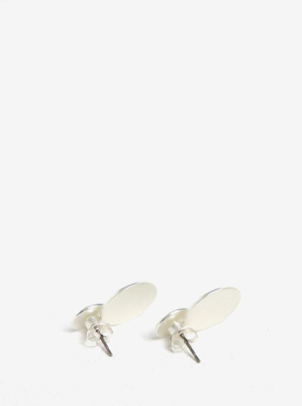 Okrúhle náušnice v striebornej farbe Pieces Bree
