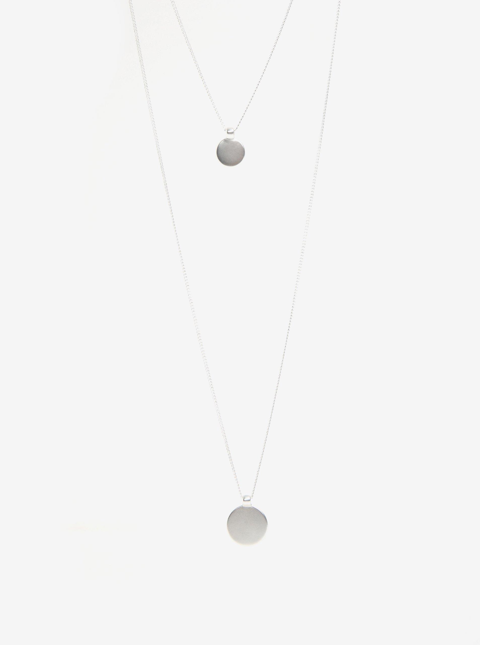 5ef08a1f8 Dvojitá retiazka s príveskom v striebornej farbe Pieces Bree | Moda.sk