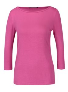 Ružové dámske tričko s 3/4 rukávom Pietro Filipi