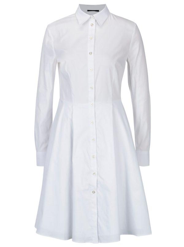 Biele dámske košeľové šaty Pietro Filipi