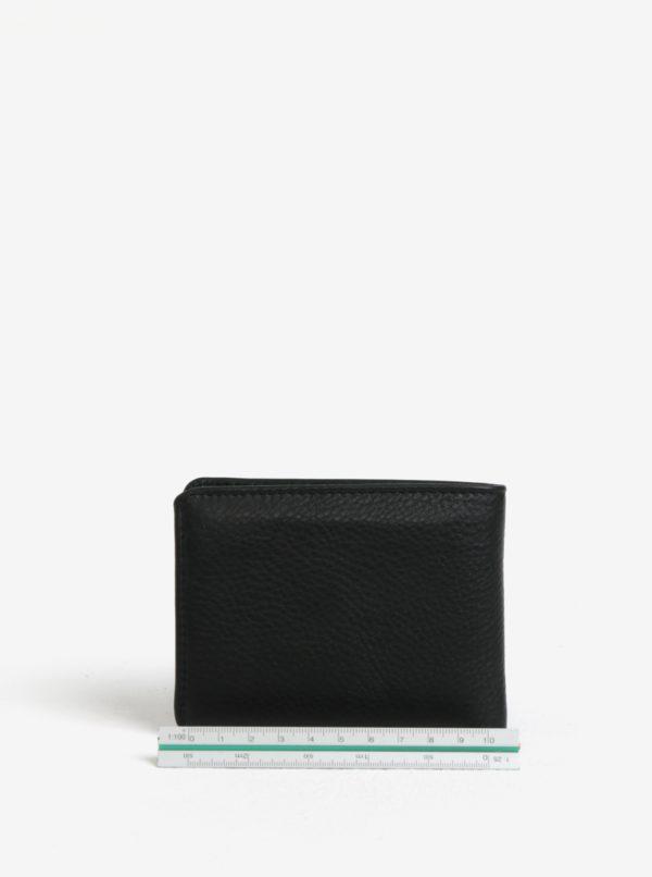 Čierna pánska kožená peňaženka GANT