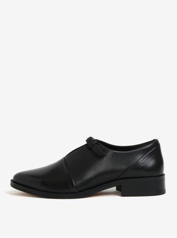Čierne dámske kožené poltopánky s prackou Royal RepubliQ