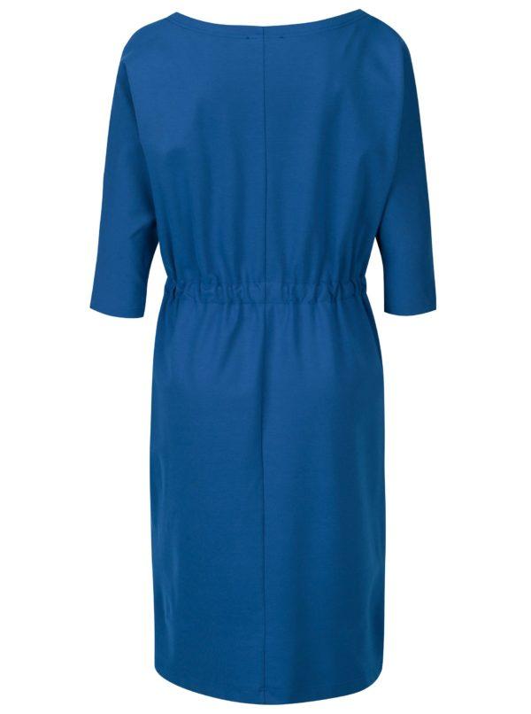 Modré dámske šaty s 3/4 rukávom Pietro Filipi