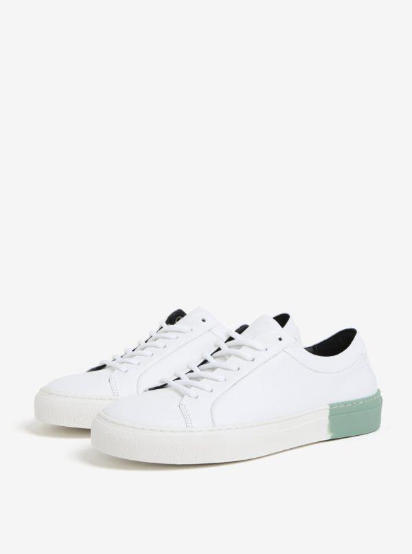 Zeleno-biele dámske kožené tenisky Royal RepubliQ