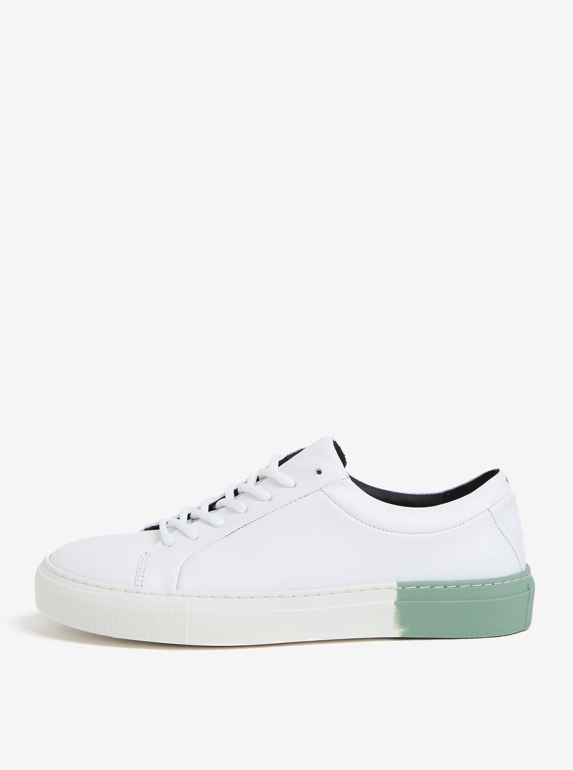 4cf3464867 Zeleno-biele dámske kožené tenisky Royal RepubliQ