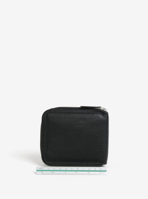 ecc30eeef3 Čierna pánska kožená peňaženka na zips GANT