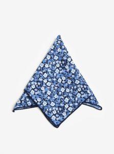 Tmavomodrá vzorovaná vreckovka do saka Jack & Jones Russel