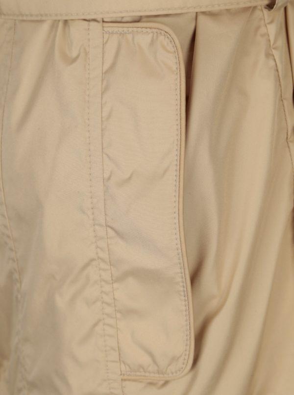 Béžová dámska tenká bunda s opaskom Geox