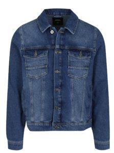 Modrá pánska rifľová bunda Burton Menswear London