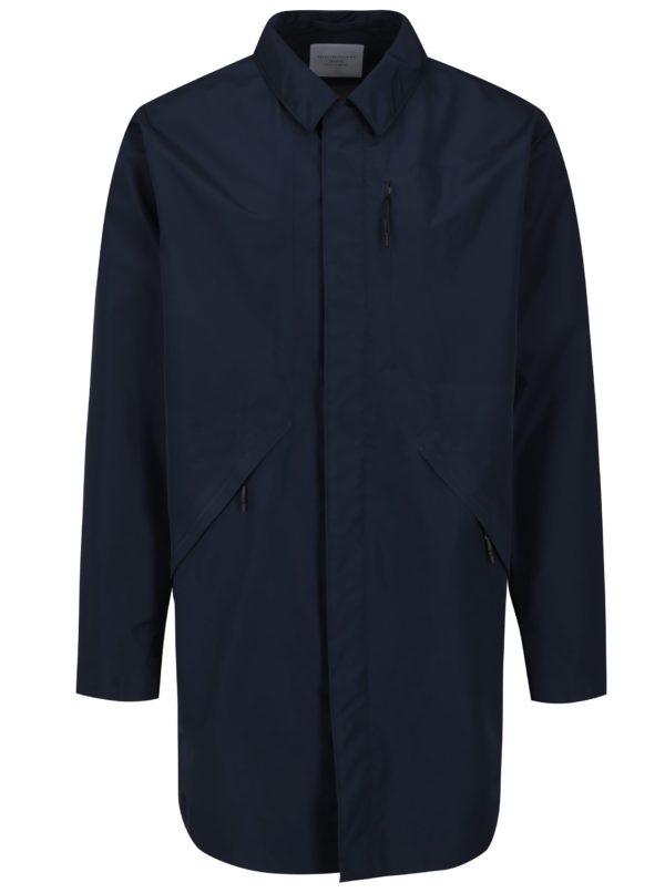Tmavomodrý funkčný nepremokavý kabát Selected Homme Take Tech