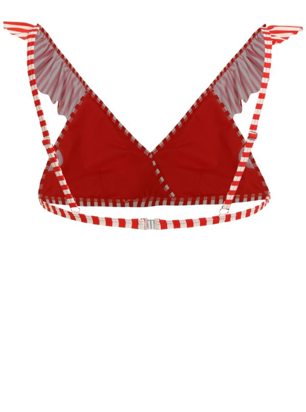 Krémovo-červený pruhovaný horný diel plaviek Y.A.S Samui