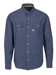 1b571d4f5f4d Modrá pánska slim fit košeľa s jemným vzorom s.Oliver
