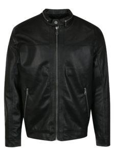 Čierna koženková bunda ONLY & SONS London