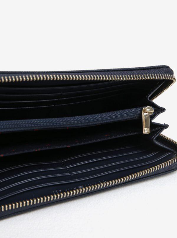 Tmavomodrá dámska peňaženka na zips Tommy Hilfiger