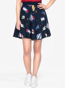 Tmavomodrá vzorovaná sukňa Tommy Hilfiger