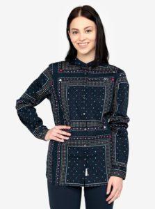 Tmavomodrá vzorovaná dámska košeľa Tommy Hilfiger