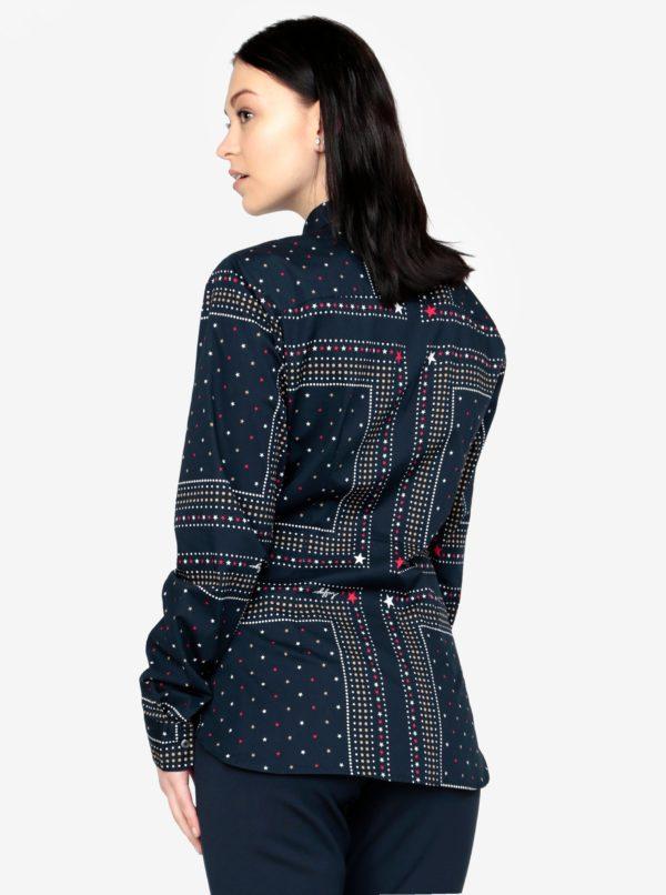 5d635664c619 Tmavomodrá vzorovaná dámska košeľa Tommy Hilfiger