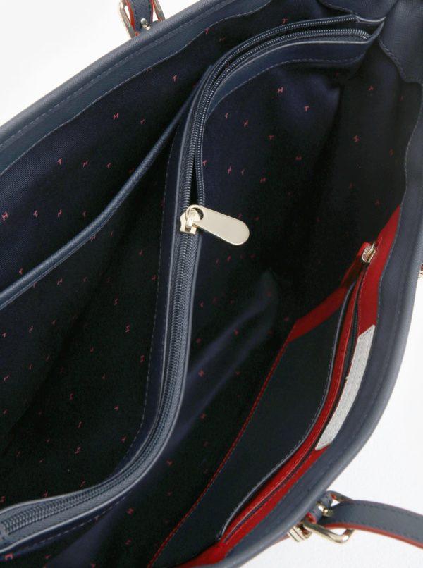 Tmavomodrá veľká kabelka Tommy Hilfiger