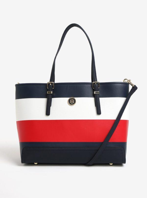 Červeno-modrá veľká kabelka Tommy Hilfiger