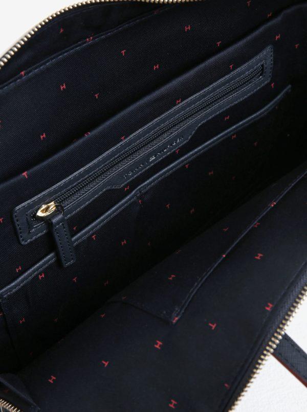 Tmavomodrá dámska taška na notebook Tommy Hilfiger