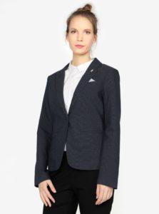 Tmavomodré dámske bodkované sako s.Oliver
