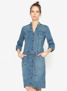 Modré rifľové šaty s 3/4 rukávom s.Oliver