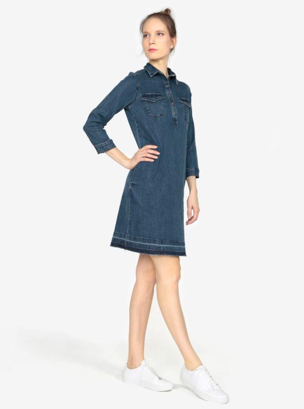 Tmavomodré rifľové šaty s 3 4 rukávom s.Oliver  e03b1019c7a