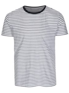 Biele pruhované tričko Selected Homme Max