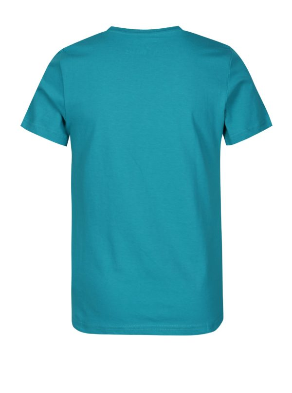 Tyrkysové chlapčenské tričko s potlačou 5.10.15.