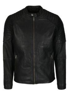 Čierna kožená bunda Selected Homme Lloyd