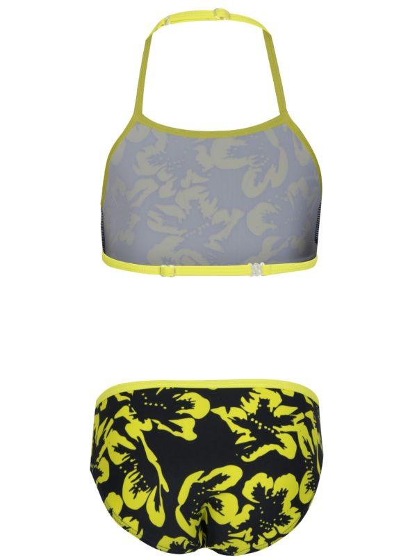 beec11b70e Žlto–čierne dievčenské dvojdielne kvetované plavky name it Zummer ...