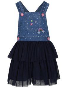 Tmavomodré dievčenské šaty s trakmi 5.10.15.