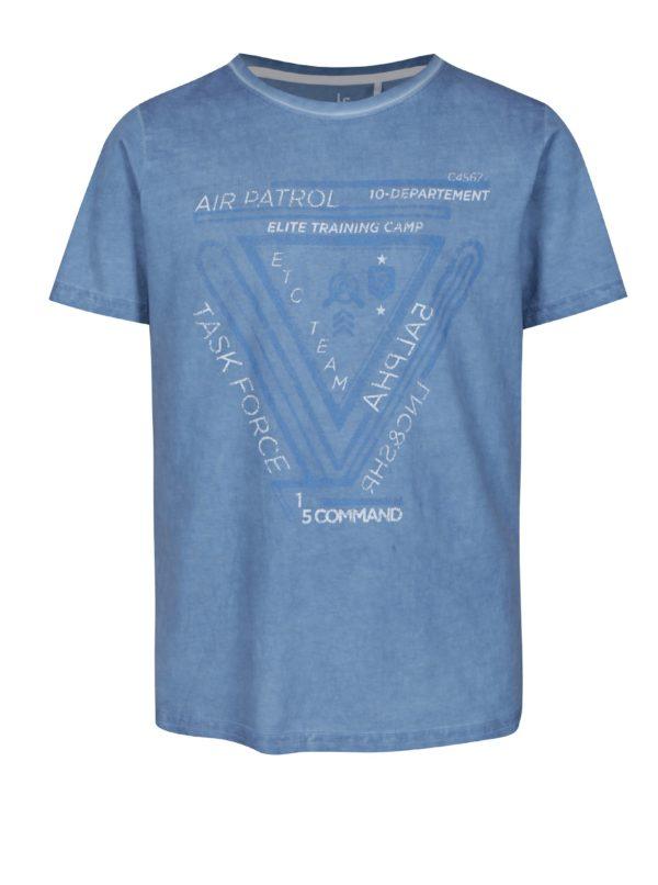 Modré chlapčenské tričko s potlačou 5.10.15.