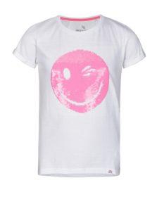 Biele dievčenské tričko s magickými flitrami 5.10.15.