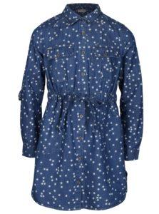 Modré vzorované košeľové šaty 5.10.15.