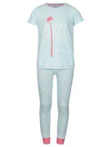 Ružovo-modré dievčenské vzorované pyžamo 5.10.15.