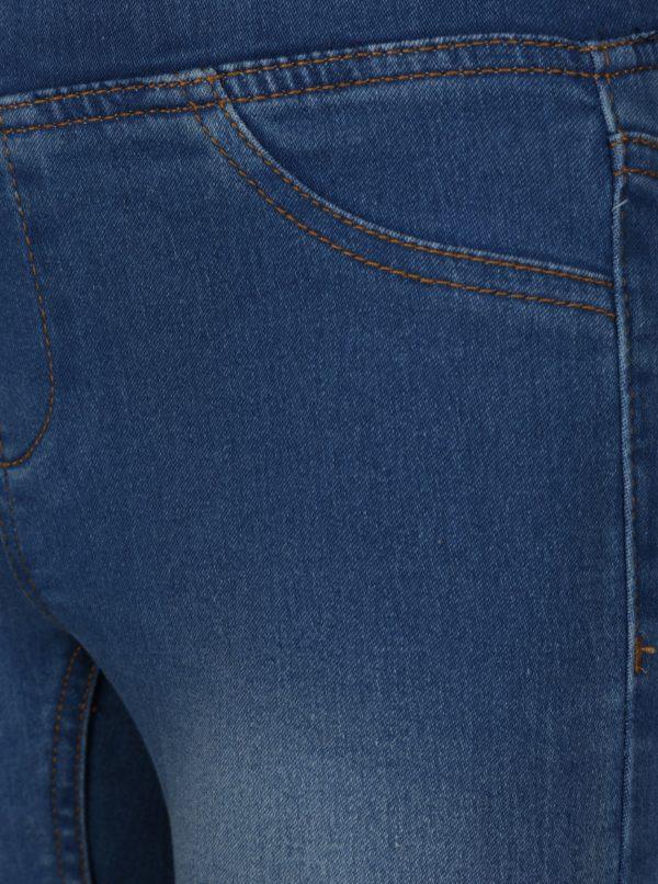 Modré dievčenské slim jeggins s vyšúchaným efektom 5.10.15.