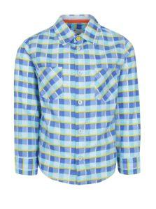 Modrá chlapčenská károvaná košeľa 5.10.15.