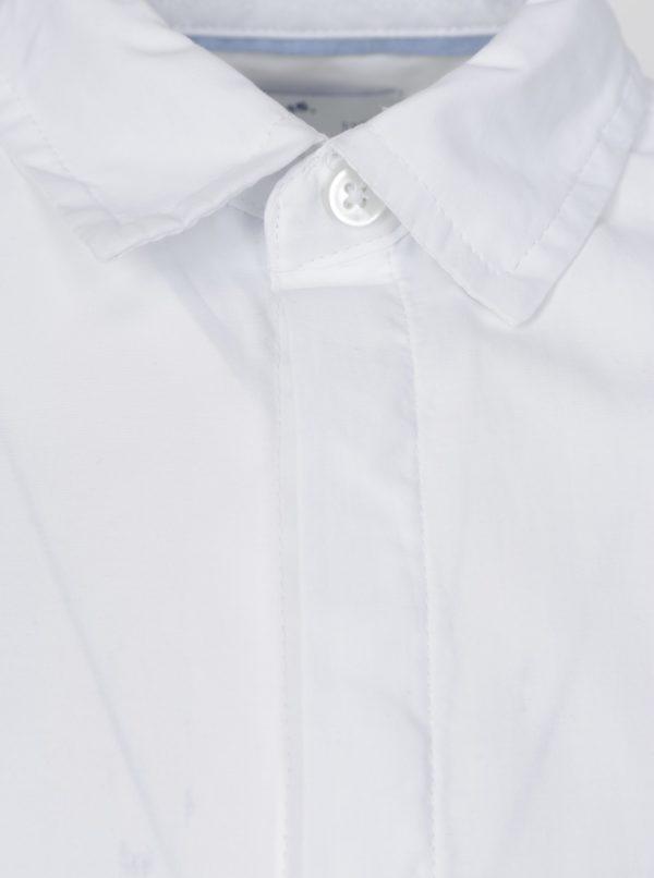Biela chlapčenská košeľa s dlhým rukávom 5.10.15.