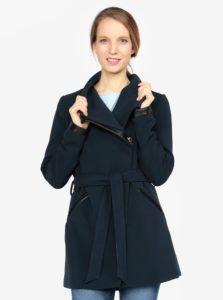 Tmavomodrý kabát s opaskom VERO MODA Kirsten