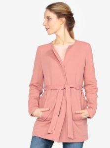 Ružový kabát s opaskom VERO MODA Mira